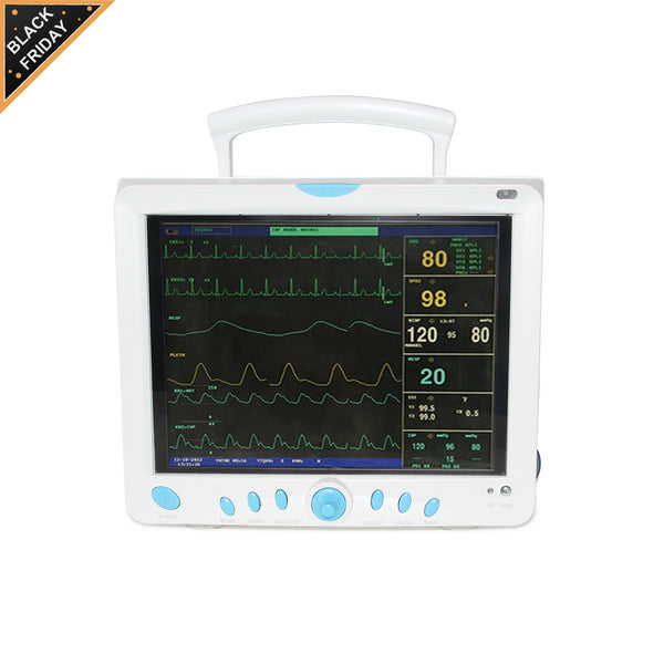 Ship from China  CONTEC CMS9000 Vital Signs ICU/CCU Patient Monitor 6 Parameters ,12.1'' TFT color LCD