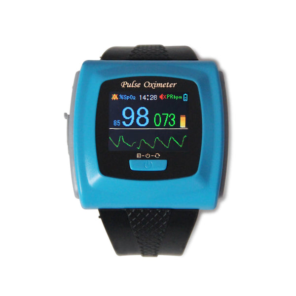 CE FDA Wrist Pulse Oximeter Fingertip SpO2 probe Sleep Heart rate Monitor CMS50F - contechealth