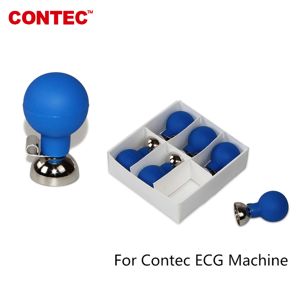 CONTEC,Nickel-plated ECG/EKG Adult Chest Electrode 4.0mm Single-ArchSuction Ball - CONTEC