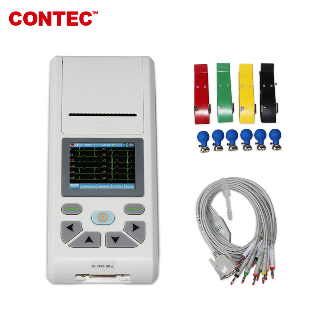 ECG90A Touch 12-lead ECG&EKG Machine Electrocardiograph Sync PC Software - contechealth