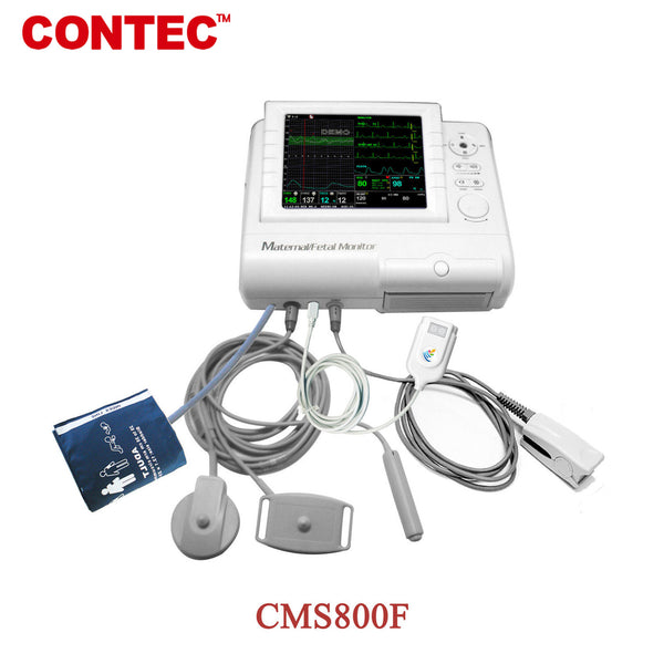 CONTEC CMS800F Maternal Patient Monitor ECG NIBP& Fetal Monitor Baby Heart TOCO - contechealth