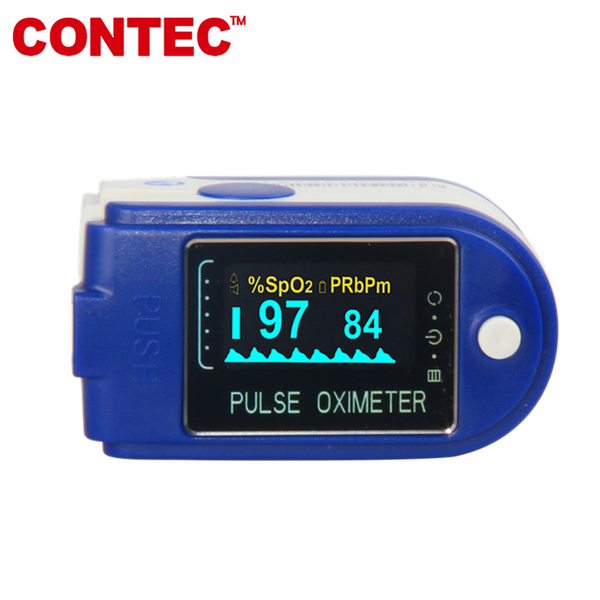 Fingertip Pulse Oximeter USB CMS50DA+ SPO2 Monitor Blood Oxygen 24Hours Record - CONTEC