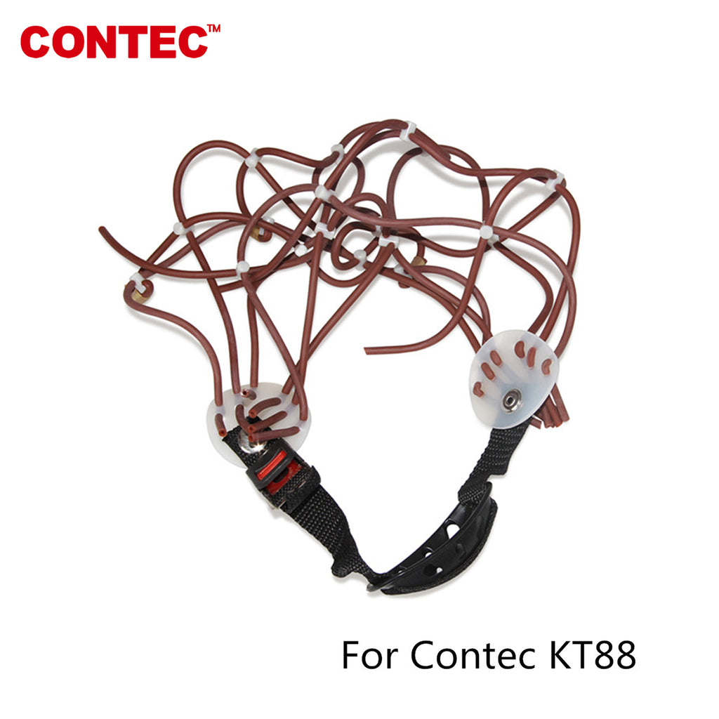 CONTEC NEW Standard 10-20 Adjustable Rubber EEG cap For EEG machine KT88 - contechealth