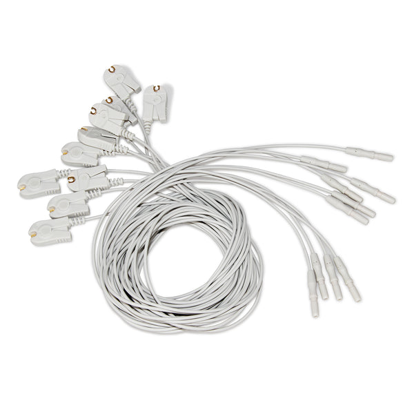 CONTEC 10pcs(1 set) EEG cable Brain leadwire FOR EEG Mapping system KT88 1016/2400/3200 - CONTEC