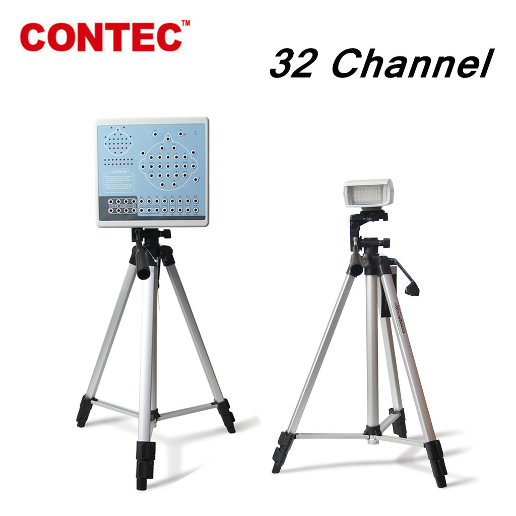 KT88-3200 Digital 32 Channel EEG Machine&Mapping System,2 tripods,Brain electric CONTEC - contechealth