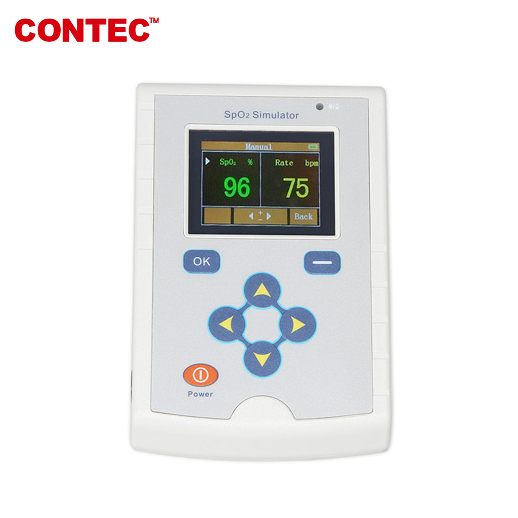 MS100 SpO2 Pulse Rate Blood Oxygen Simulator Pulse Oximeter reaction time - contechealth