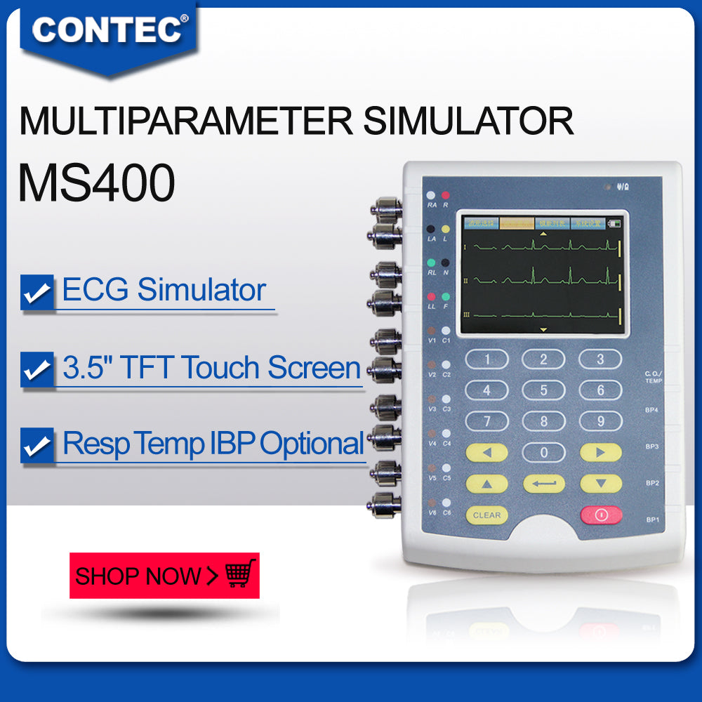 MS400 Multiparameter Simulator multi-parameter Color Touch patient monitor - CONTEC