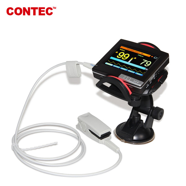 CONTEC PM60A SpO2 Patient Monitor Fingertip Pulse Oximeter,Touch,PC Software ,Adult Probe - contechealth