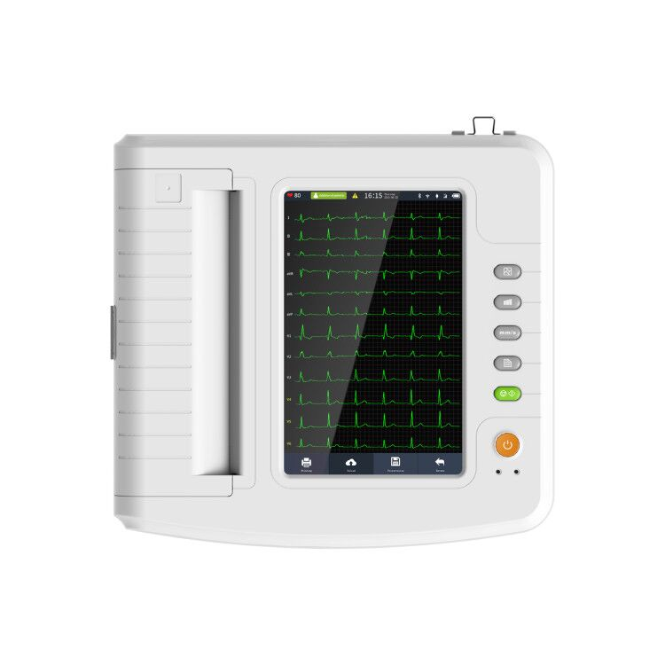 Ship from China CONTEC ECG1212G Digital 12 channel/lead EKG+PC Sync software, Electrocardiograph Touch Screen
