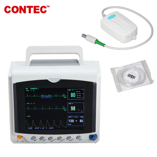 CMS6000C Portable Capnograph Patient Monitor CO2 Vital Signs Monitor 6 parameters+ETCO2 - contechealth