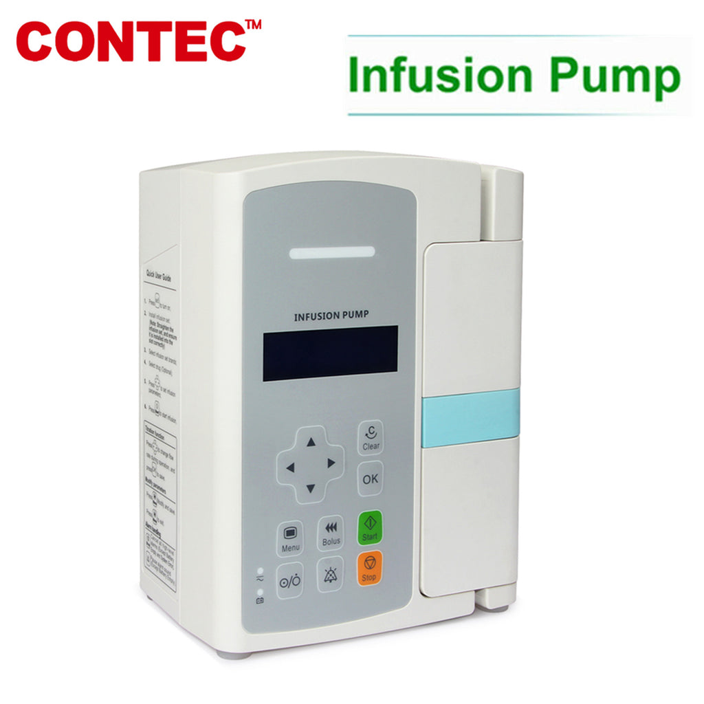 SP800 LCD Infusion Pump Accurate flow rate control Unique door design Alarm CONTEC