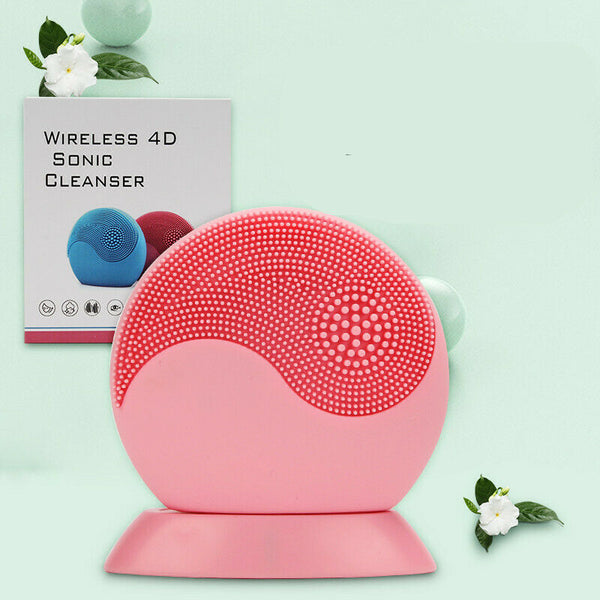 USB Wireless Charging Waterproof Electric Silicone Facial Cleansing Instrument