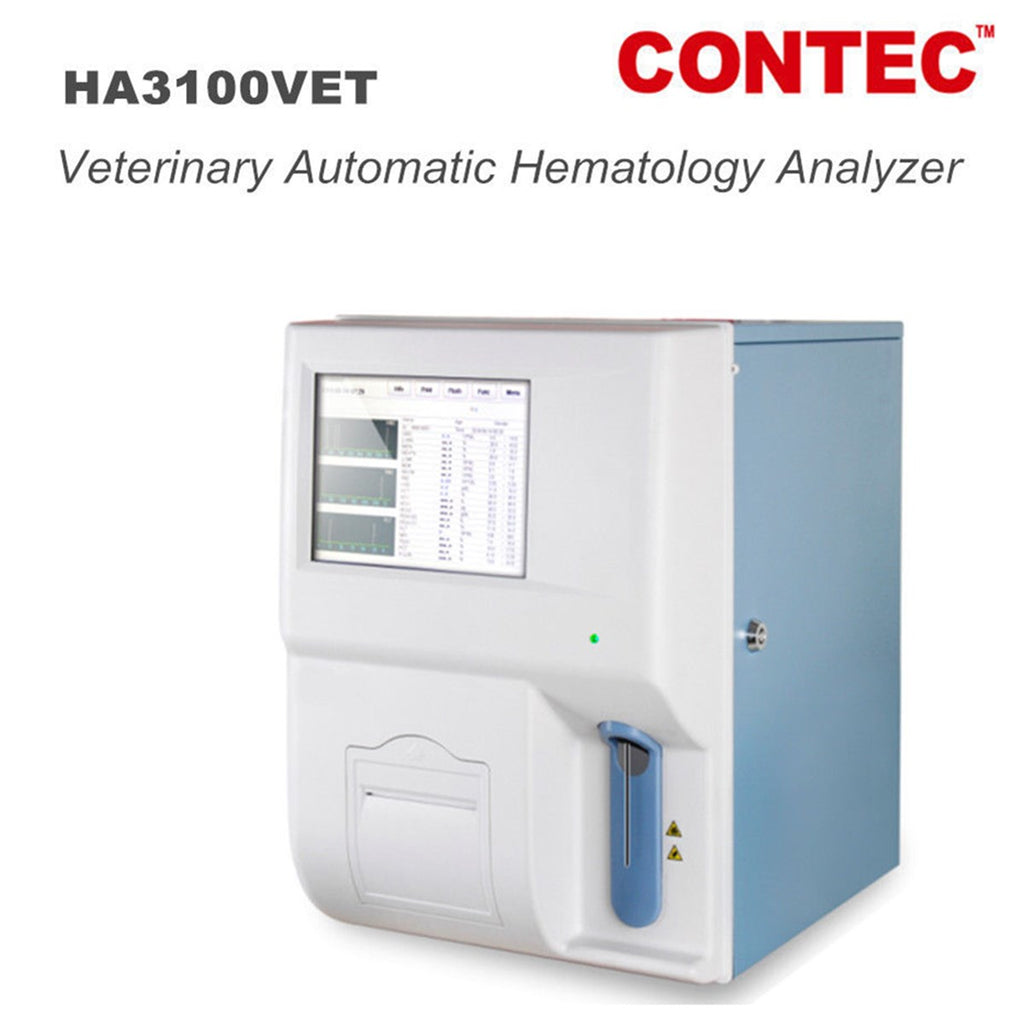 HA3100VET Veterinary Automatic Blood/Hematology Analyzer Touch Diagnostic System - contechealth