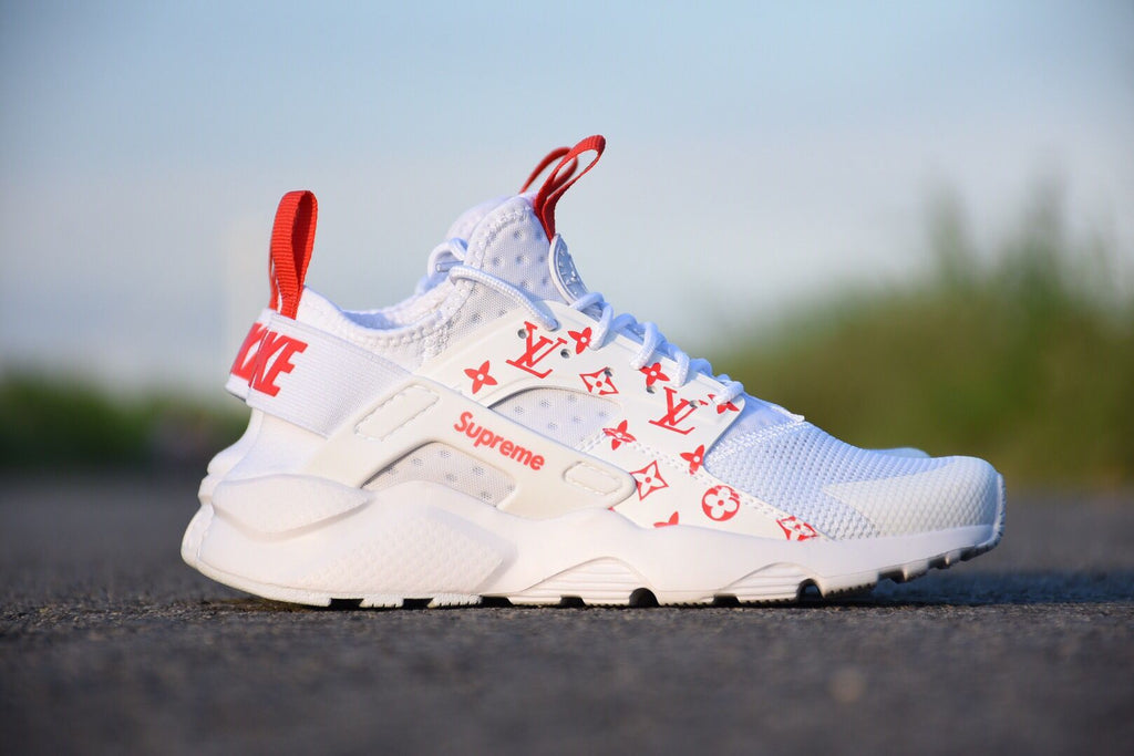 Custom Louis Vuitton x Huarache Ultra\u0027s (White)