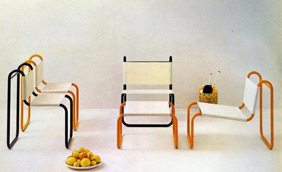 ... This Bent Tubular Steel And Canvas Furniture From The French 1960u0027s  PRISUNIC Furniture Catalogue. A Mail Order Catalogue Of The French  Department Store ...