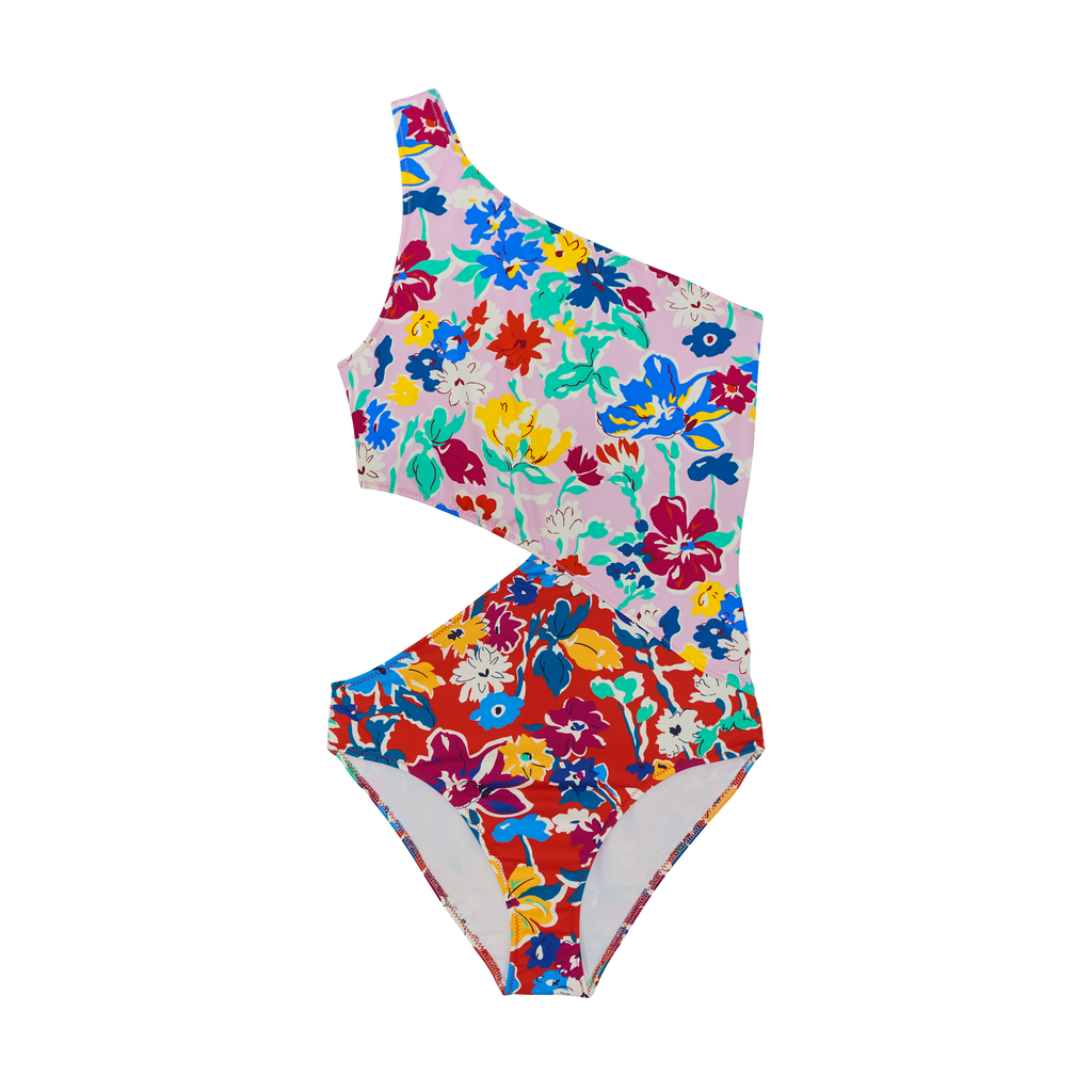 Front Shot of Floral One Piece Bikini