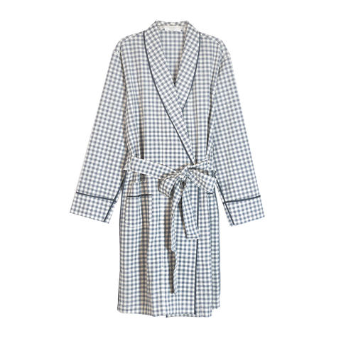 Kari Robe Sea Organic Gingham