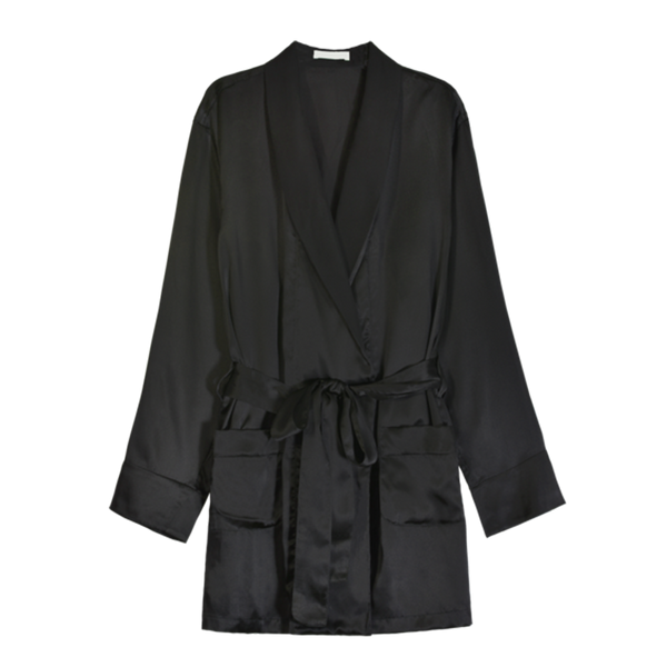 Madeline Robe Black Silk