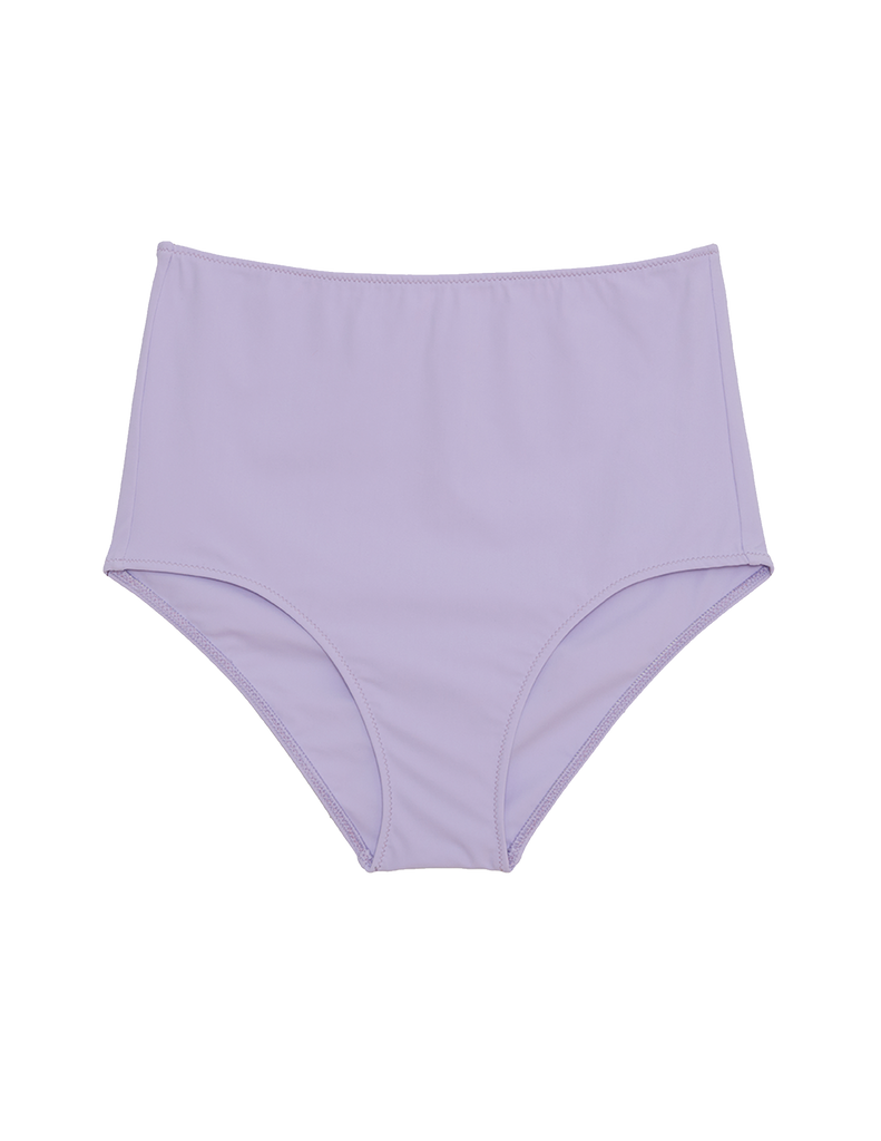 Purple high-waisted bikini bottom
