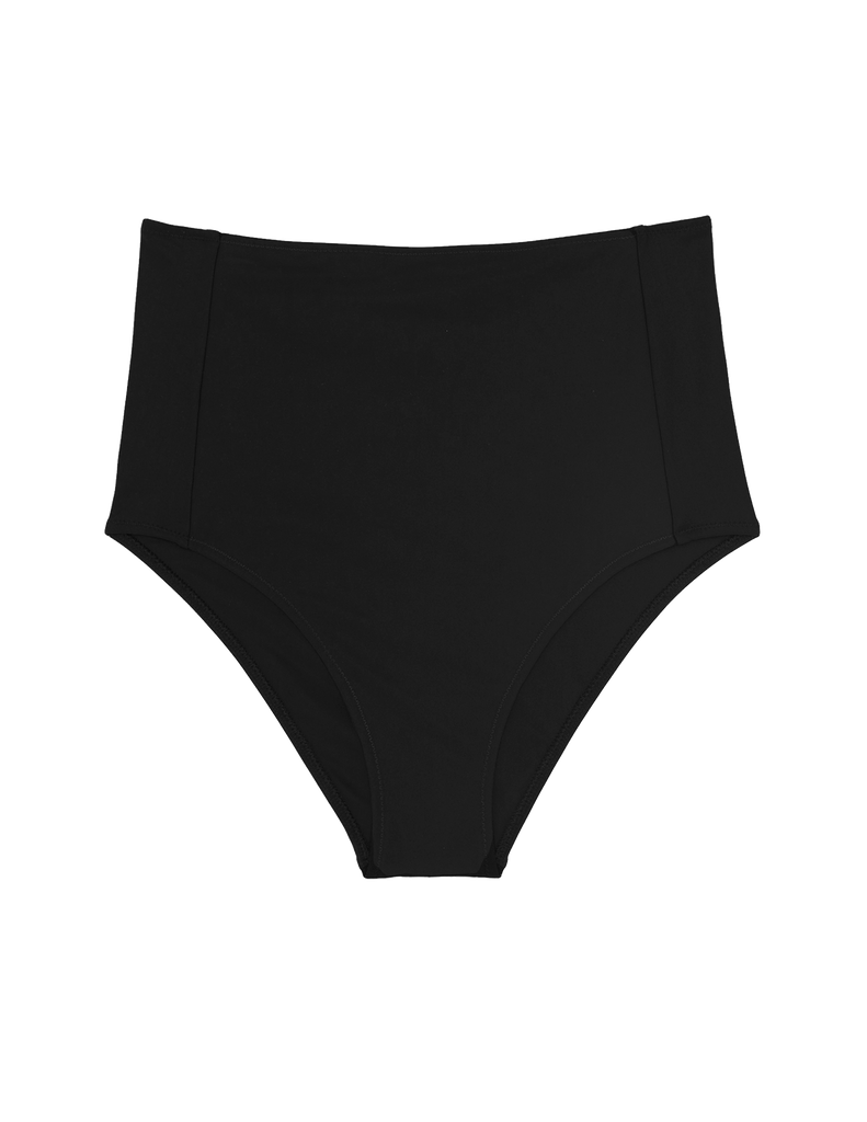 Black high-waisted bikini bottom