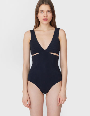 Ursa One Piece Black Rib