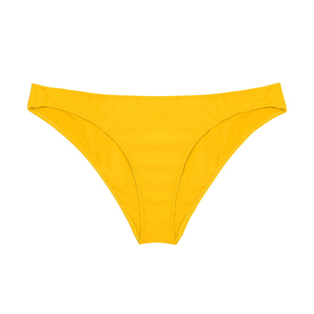 Front of yellow bikini bottom
