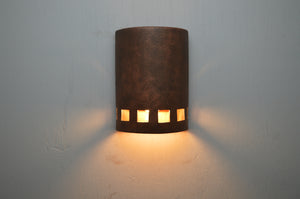 10'' Low Profile Squares-Antique Copper-open top lit