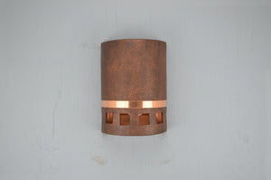 10'' Low Profile Squares with Copper Band-Antique Copper-open top