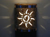 "9"" Open Top - Ancient Sun design w/Copper Metal Bands in Copper Road color - Indoor/Outdoor"