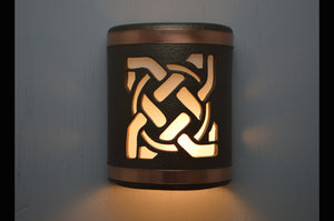 9'' Celtic Circle-Anodized Bronze-B&Sealed Copper Bands-indoor-outdoor-lit-113 304 659 851 90