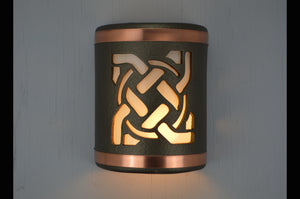 9'' Celtic Circle-Anodized Bronze-B&Sealed Copper Bands-indoor-outdoor-113 304 659 851 90