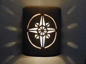 Open Top-Compass Star Design-Parchment color-Indoor/Outdoor
