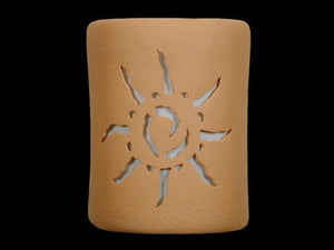 "9"" Open Top - Ancient Sun Design, in Brown color - Indoor/Outdoor"