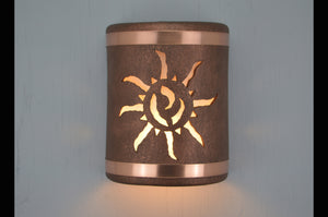 9'' Ancient Sun-B&Sealed Copper Bands-Antique Copper-indoor-outdoor-114 222 665 851 90