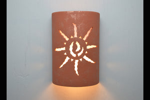 14'' Ancient Sun-Red Mica-indoor-outdoor lit-116 222 657 90