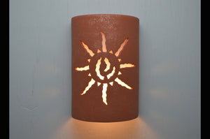 14'' Ancient Sun-Red Mica-indoor-outdoor-dark sky-lit-117 222 657 90