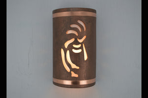 14'' Kokopelli with Copper Bands-Antique Copper-indoor-outdoor-117 235 665 850 90