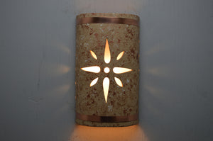 14'' Open Top-Star-Copper Rocky Road-Raw Copper Bands-Indoor-Outdoor