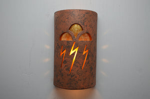 14'' Open Top-Storm Clouds-Copper Brick-Amber Mica-Indoor-Outdoor