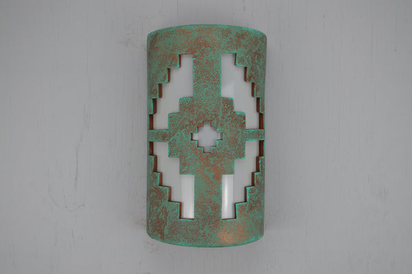 "14"" Open Top - Ventana Design, in Raw Turquoise Color - Indoor/Outdoor"