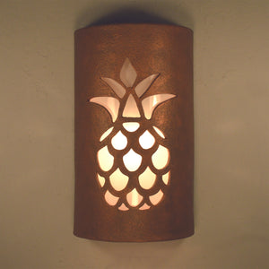 southwest ceramic lighting, Pineapple,Antique Copper