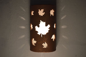 Maple Leaves design-Rust Mica-Indoor/Outdoor