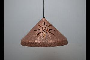 12'' Cone Pendant-Ancient Sun-Rust Mica-indoor-Black cord & cap-145 222 656 91B