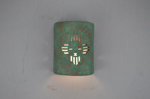 9'' Closed Top (Dark Sky)-Kachina-Raw Turquoise-Indoor-Outdoor-114 692 90 lit copy
