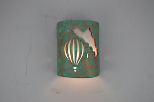9'' Closed Top (Dark Sky)-Pueblo Balloon-Raw Turquoise-Indoor-Outdoor-114 300 692 90 lit copy
