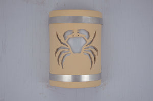9'' Crab-Stainless Steel bands-Tan-open top-113 358 408 852 90