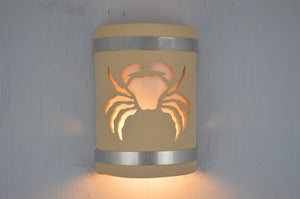 9'' Crab-Stainless Steel bands-Tan-open top-lit1 -113 358 408 852 90