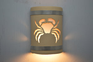 9'' Crab-Stainless Steel bands-Tan-open top-lit2 -113 358 408 852 90