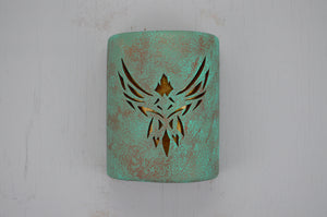 9'' Open Top-Phoenix-Raw Turquoise-Amber Mica-Indoor-Outdoor
