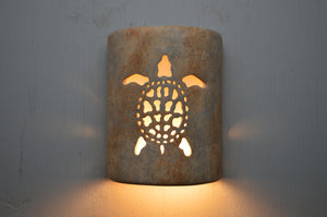 9'' Open Top-Sea Turtle-Sandstone-Indoor-Outdoor